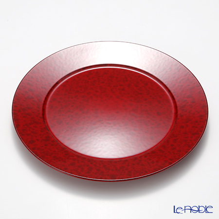 Laque Nouveau 'Marble' Red Round Charger Plate 32.5cm