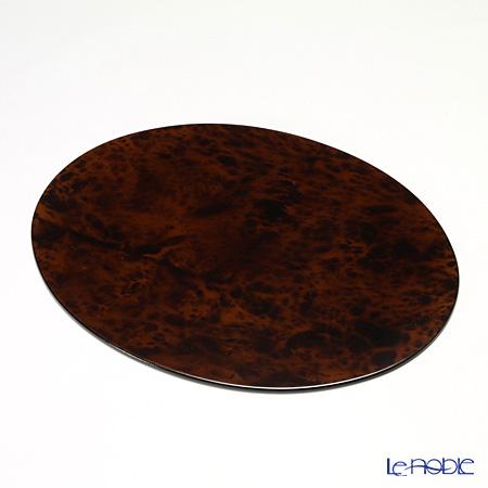 Laque Nouveau 'Biedermeier Style' Brown Oval Placemat 37x29cm (S)