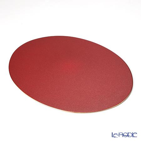 Laque Nouveau 'Gold Glitter' Red Oval Placemat 45.5x36cm (L)