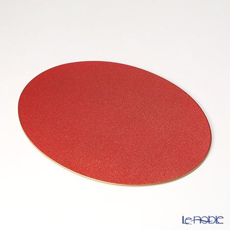 ラックヌーボー 楕円型プレースマット(S) レッドゴールドラメ