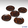 Laque Nouveau coaster Biedermeier style ( 5 pieces  box Magzine