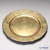 Laque Nouveau 'Plane - Baroque' Gold Round Charger Plate 33cm