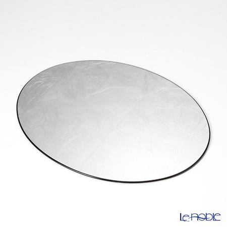 Laque Nouveau 'Plane' Silver Oval Placemat 37x29cm (S)