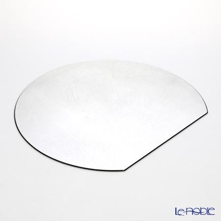Laque Nouveau Half moon-shaped placemat (L) silver