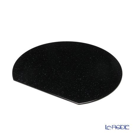 ラックヌーボー マーブルコレクション 半月型プレースマット(S) ブラック