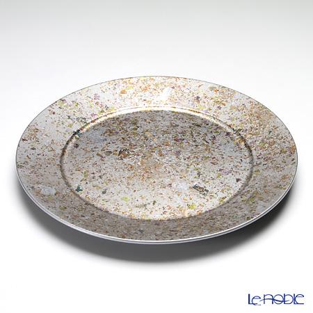 Laque Nouveau 'Byzantine' Silver Round Charger Plate 33cm