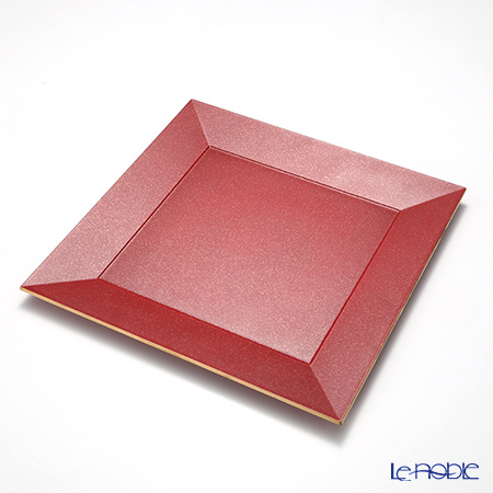 Laque Nouveau 'Gold Glitter' Red Square Charger Plate 31.5x31.5cm