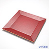 Laque Nouveau Charger plate square red gold lame