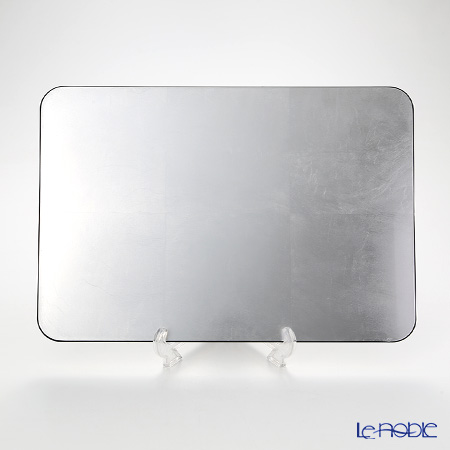 Laque Nouveau 'Plane' Silver Rectangular Placemat 45.5x31.5cm (L)