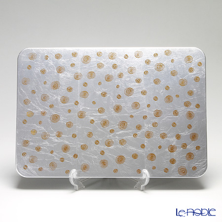 Laque Nouveau 'Swirl' Silver Rectangular Placemat 45.5x31.5cm (L)