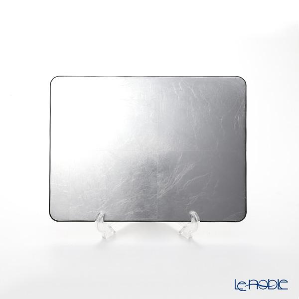 Laque Nouveau 'Plane' Silver Rectangular Placemat 35x15.5cm (S)