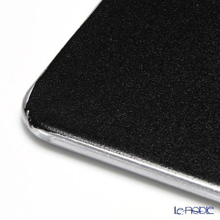 Laque Nouveau 'Swirl' Silver Flat Square Coaster 10.5x10.5cm