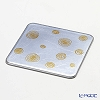 Laque Nouveaus whirlpool Square coaster silver