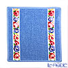 Feiler 'Aida (Flower) White' Light Blue Hand Towel 25x25cm
