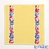 Feiler 'Aida (Flower) White' Yellow Hand Towel 25x25cm