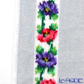 フェイラー ハンドタオルアネモネ ホワイト シルバー 30×30cm