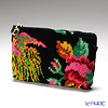 Feiler 'Paradise (Flower & Phenix Bird) Black' Cosmetic Pouch 18x9cm