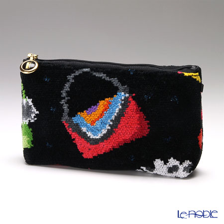 Feiler 'Crazy Bags' Black Cosmetic Pouch 18x9cm