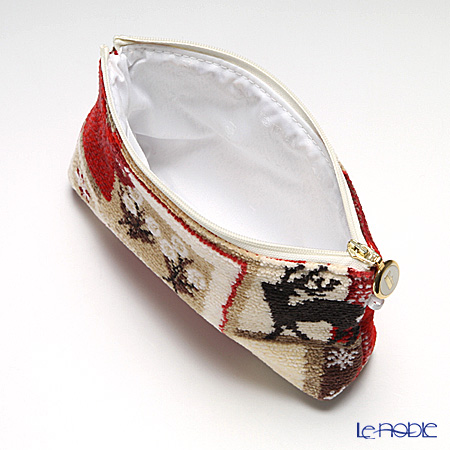 Feiler 'Winter Magic (Christmas)' Red Cosmetic Pouch 18x9cm