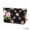 Feiler 'Amelie (Flower) Black' Cosmetic Pouch 17x11.5cm