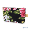 Feiler 'Peony (Flower) Black' Cosmetic Pouch 17x11.5cm