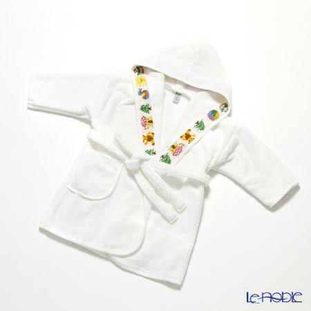 Feiler Baby 'Benjamin' White Bathrobe (for 6 Months ~ 1 Year Old)