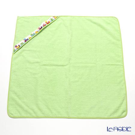 Feiler Baby 'Ducklings' Apple Green Swaddle / Hooded Bathtowel 80x80cm