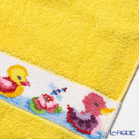Feiler Baby 'Ducklings' Sun Yellow Bath Towel 100x100cm