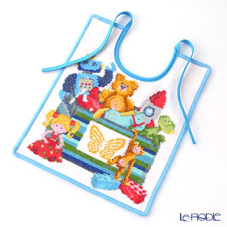 Feiler Baby 'Toybox' Aqua Blue Bib / Burp Cloth