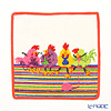 Feiler Baby 'Chicken Chat (Animal)' Coral Orange - White Hand Towel 25x25cm