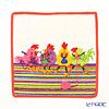 Feiler baby handkerchief Chicken chat 25 x 25 cm white