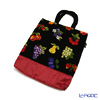 Feiler 'Macedonia Black' Red Tote Bag 37x40cm