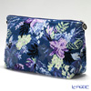 Feiler 'Tropical Garden (Flower)' Petrol Blue Travel Pouch 34x18.5cm