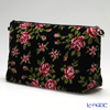 Feiler 'Miriam (Flower) Black' Travel Pouch 34x18.5cm