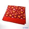Feiler 'Fantasia (Flower)' Coral Orange / Red Bath Towel 75x150cm