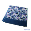 Feiler 'Tropical Garden (Flower)' Petrol Blue Bath Towel 75x150cm