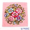 Feiler 'Vienna (Flower)' Rose Pink with Gold Thread Hand Towel 30x30cm