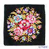 Feiler 'Vienna (Flower)' Black with Gold Thread Hand Towel 30x30cm