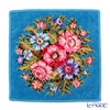 Feiler 'Vienna (Flower)' Blue with Gold Thread Hand Towel 30x30cm