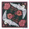 Feiler 'Legacy (Flower & Crane / Bird)' Wine Red Hand Towel 30x30cm