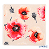 Feiler 'Corn Poppy (Flower)' Seashell Beige Hand Towel 30x30cm