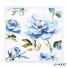 Feiler 'Diana (Flower) White' Sky Blue Hand Towel 30x30cm