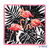 Feiler 'Flaming  (Animal)' Azalea Pink Hand Towel 30x30cm