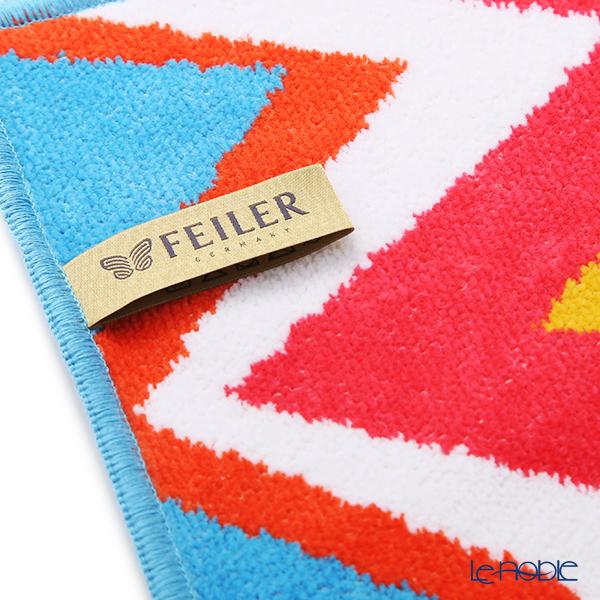 Feiler 'ZigZag' Cyan Blue Hand Towel 30x30cm