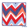 Feiler 'ZigZag' Shadow Blue Hand Towel 30x30cm