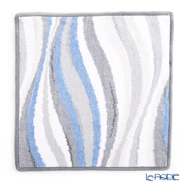 Feiler Hand Towel (Handkerchief) Wave Blue 30x30cm Grey