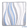 Feiler 'Wave Blue' Grey Hand Towel 30x30cm