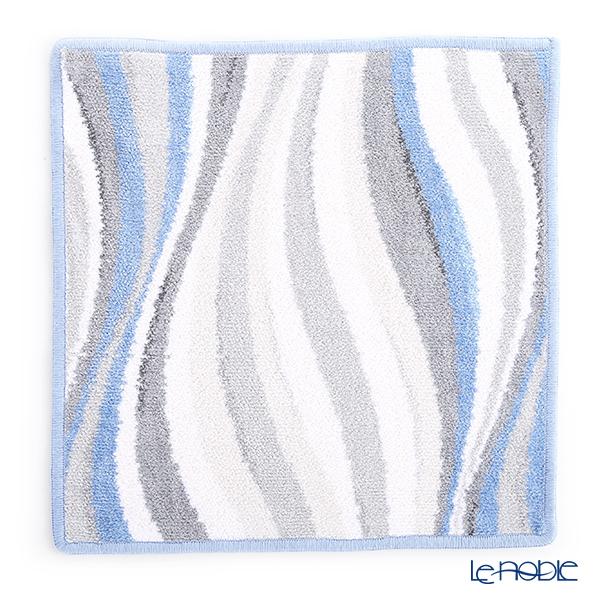 フェイラー ハンドタオル(ハンカチ) ウェーブブルー 30×30cm ライトブルー
