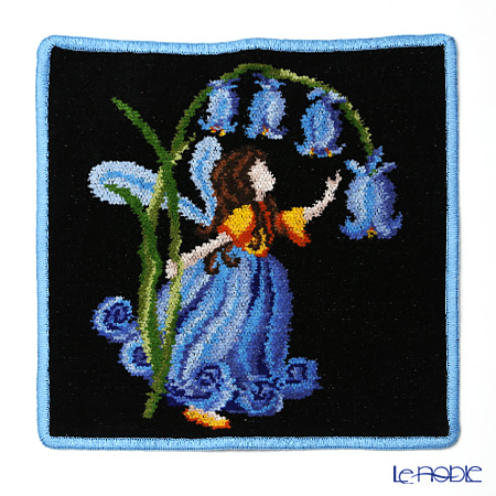 Feiler 'Fairy Black' Blue Hand Towel 25x25cm