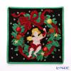 Feiler hand towel Christmas Angel and lease black 25 x 25 cm